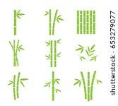 set of bamboo design elements.... | Shutterstock .eps vector #653279077