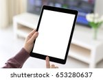 female hands holding computer... | Shutterstock . vector #653280637