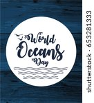 world oceans day card or