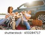 portrait of happy young adult...   Shutterstock . vector #653284717