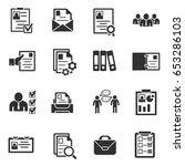 summary icons set. interview... | Shutterstock .eps vector #653286103