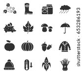 collection of autumn icons.... | Shutterstock .eps vector #653286193