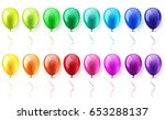 isolated realistic colorful... | Shutterstock .eps vector #653288137