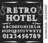 font script handcrafted vector... | Shutterstock .eps vector #653290687