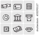 banking icons | Shutterstock .eps vector #653293117