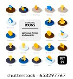 color icons set in flat... | Shutterstock .eps vector #653297767