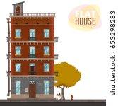 high rise house. illustration...   Shutterstock .eps vector #653298283