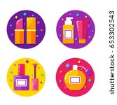 beauty color icons set | Shutterstock .eps vector #653302543