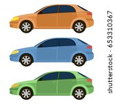 vector set with cars | Shutterstock .eps vector #653310367