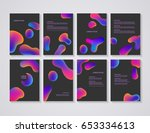 brochure flyer layouts with... | Shutterstock .eps vector #653334613