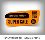 50  off sale banner design.... | Shutterstock .eps vector #653337847