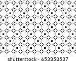 ornament with elements of black ... | Shutterstock . vector #653353537