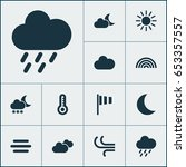 air icons set. collection of... | Shutterstock .eps vector #653357557