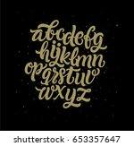 handmade typography alphabet. | Shutterstock .eps vector #653357647
