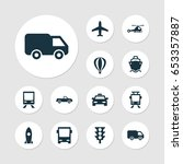 shipment icons set. collection... | Shutterstock .eps vector #653357887
