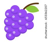 grapes flat icon  fruit and... | Shutterstock .eps vector #653362207