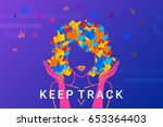 keep track concept illustration ... | Shutterstock .eps vector #653364403