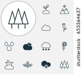harmony icons set. collection... | Shutterstock .eps vector #653364637