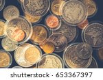 plenty of collectible coins in... | Shutterstock . vector #653367397