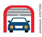 car garage  | Shutterstock .eps vector #653371063