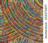 abstract multicolor  mottled... | Shutterstock .eps vector #653373697