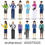 business team and teamwork... | Shutterstock .eps vector #653375323