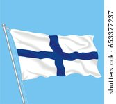 developing flag of finland | Shutterstock .eps vector #653377237