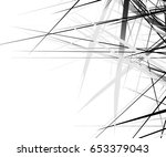 edgy texture with chaotic ... | Shutterstock .eps vector #653379043