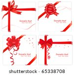 collection of red bows with... | Shutterstock .eps vector #65338708