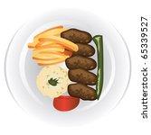 food dish | Shutterstock .eps vector #65339527