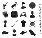 a golfer  a ball  a club and... | Shutterstock .eps vector #653406217