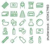 plastic icons set. set of 25...   Shutterstock .eps vector #653417983