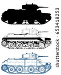 military tank vector 05