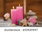 beautiful composition of spa... | Shutterstock . vector #653435947