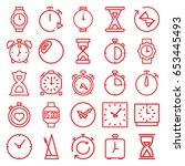timer icons set. set of 25... | Shutterstock .eps vector #653445493