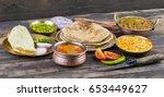 indian traditional cuisine... | Shutterstock . vector #653449627