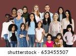various of diversity women... | Shutterstock . vector #653455507