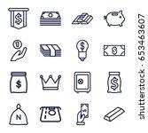 wealth icons set. set of 16... | Shutterstock .eps vector #653463607