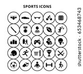 sports icons | Shutterstock .eps vector #653468743
