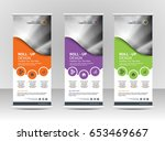 roll up banner stand template... | Shutterstock .eps vector #653469667
