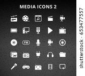 media icons | Shutterstock .eps vector #653477557