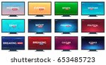 set of mass media. sports ... | Shutterstock .eps vector #653485723