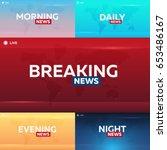 set of mass media. morning ... | Shutterstock .eps vector #653486167