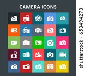 camera icons   Shutterstock .eps vector #653494273