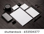 corporate identity template  ... | Shutterstock . vector #653504377