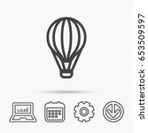 air balloon icon. fly transport ... | Shutterstock .eps vector #653509597