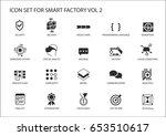 smart factory vector icons like ... | Shutterstock .eps vector #653510617