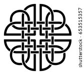 celtic pattern. element of... | Shutterstock .eps vector #653515357