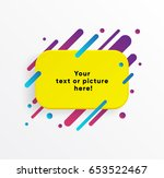 vector background. yellow... | Shutterstock .eps vector #653522467