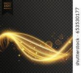 golden swirl transparent light... | Shutterstock .eps vector #653530177